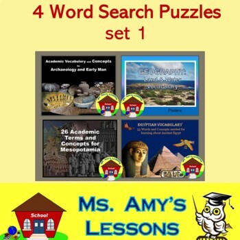 Academic Vocabulary and Concepts for Ancient Civilizations Bundle 1