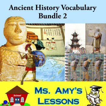 Academic Vocabulary and Concepts for Ancient Civilizations Bundle 2