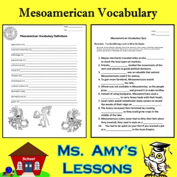 Academic Vocabulary and Concepts for Mesoamerica and Inca Civilizations
