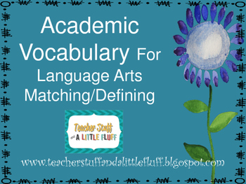 Academic Vocabulary and Matching
