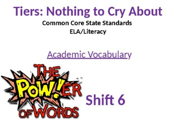 Academic Vocabulary and The Common Core- Powerpoint Presentation