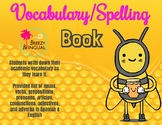 Academic Vocabulary book/ Spelling book