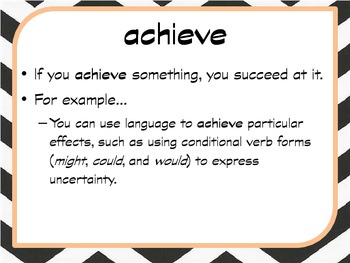 Academic Vocabulary for CCS - Create Terms