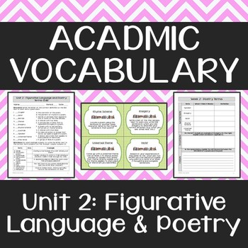 Academic Vocabulary: Figurative Language & Poetry Terms