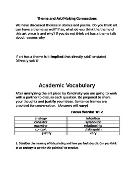 Academic Vocabulary using Kadinsky