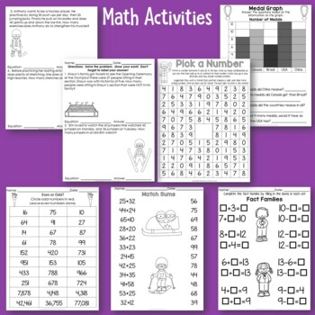 Academic Winter Sports No Prep Activities