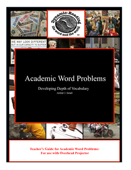 Teacher's Guide to Academic Word Problems-Developing Academic Vocabulary