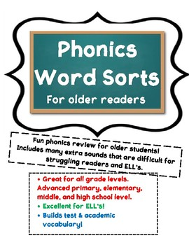 Academic Word Sorts for Older Students