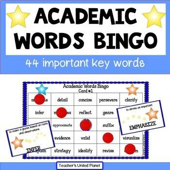 Academic Words Bingo