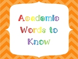 Academic Words to Know Posters