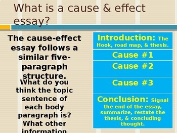 Academic Writing: The Cause & Effect Essay Part 1