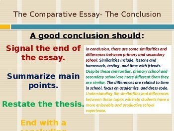 Academic Writing: The Comparative Essay Part 1