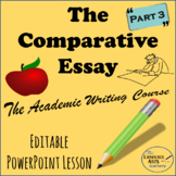 Academic Writing: The Comparative Essay Part 3