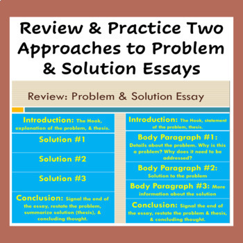 Academic Writing: The Complete Problem & Solution Essay