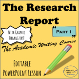 Academic Writing: The Research Report Part 1