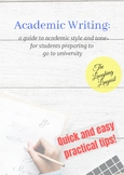 Academic Writing for EAP (English for Academic Purposes) Students