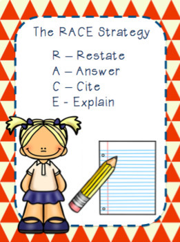 Academic Writing for Short Answer Questions using the RACE Strategy FREEBIE