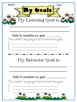 Academic and Behavior Goals