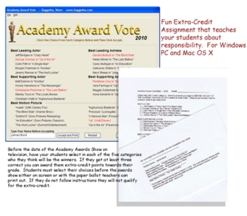 Academy Award Vote for Windows PC