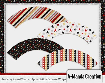 Academy Awards Teacher Appreciation Printable Cupcake Wrappers
