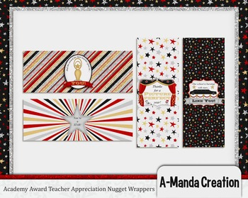 Academy Awards Teacher Appreciation Printable Nugget Wrappers