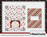 Academy Awards Teacher Appreciation Printable Pop Up Gift Card Box