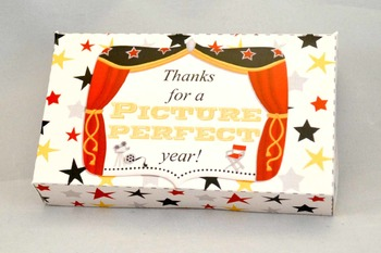 Academy Awards Teacher Appreciation Printable Pop Up Gift Card Box