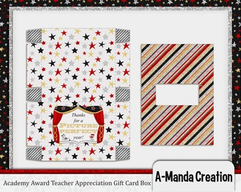 Academy Awards Teacher Appreciation Printable Pop Up Gift