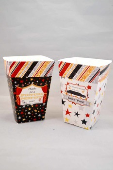 Academy Awards Teacher Appreciation Printable Popcorn Boxes