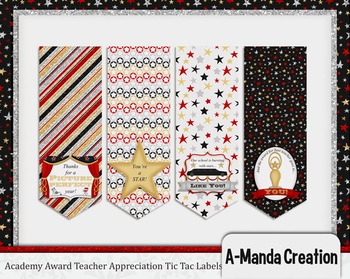 Academy Awards Teacher Appreciation Printable Tic Tac Labels