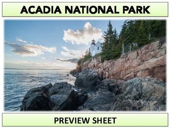 Acadia National Park  : Project Materials