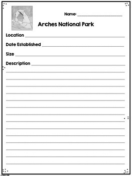 Arches National Park Research Project