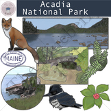 Acadia National Park Clip Art Set