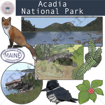 Acadia National Park Clip Art Set