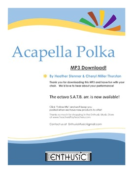 Acapella Polka MP3 by Enthusic Music | Teachers Pay Teachers