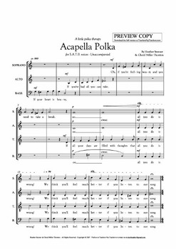 Acapella Polka SATB Arr. Octavo for High School/College/Co
