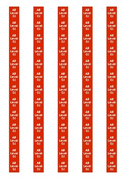 Accelerated Reader Level Spine Labels: Level 0.1 - Avery A4 L7651