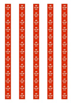 Accelerated Reader Level Spine Labels: Level 0.5 - Avery A4 L7651