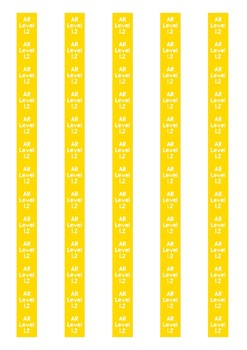 Accelerated Reader Level Spine Labels: Level 1.2 - Avery A4 L7651