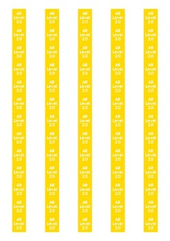 Accelerated Reader Level Spine Labels: Level 2.0 - Avery A4 L7651