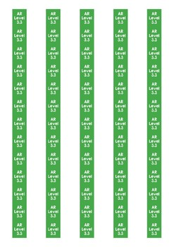 Accelerated Reader Level Spine Labels: Level 3.3 - Avery A4 L7651