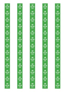 Accelerated Reader Level Spine Labels: Level 3.4 - Avery A4 L7651
