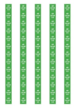 Accelerated Reader Level Spine Labels: Level 3.5 - Avery A4 L7651