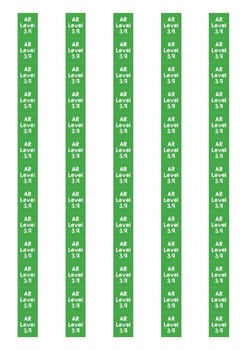 Accelerated Reader Level Spine Labels: Level 3.9 - Avery A4 L7651