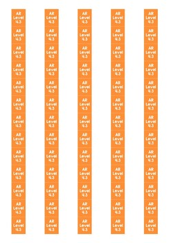 Accelerated Reader Level Spine Labels: Level 4.3 - Avery A4 L7651