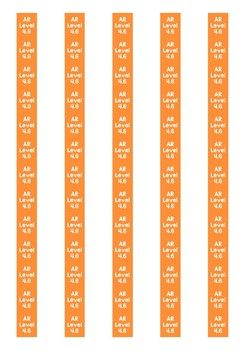 Accelerated Reader Level Spine Labels: Level 4.6 - Avery A4 L7651
