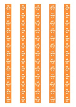Accelerated Reader Level Spine Labels: Level 4.8 - Avery A4 L7651
