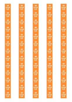 Accelerated Reader Level Spine Labels: Level 4.9 - Avery A4 L7651