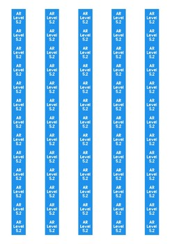 Accelerated Reader Level Spine Labels: Level 5.2 - Avery A4 L7651