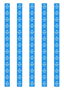 Accelerated Reader Level Spine Labels: Level 5.5 - Avery A4 L7651